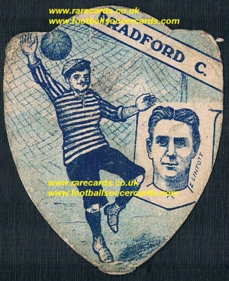 1910 Evelyn Lintott WW1 officer Woking QPR Bradford C Leeds Plymouth Baines card